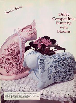 """Милые сердцу штучки: Вышивка крестом: """"Кошечка и кролик в стиле Стаффордширского фарфора"""""""