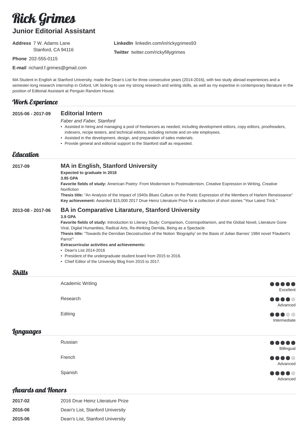 entry level resume template valera in 2020 Student