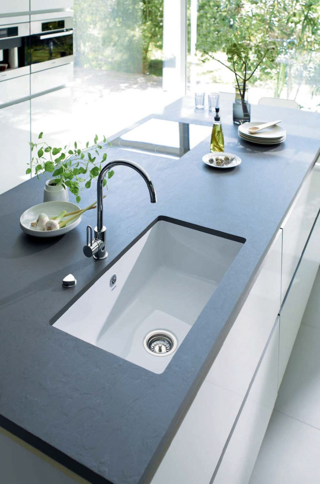 Kitchen , Inspiring Modern Kitchen Sink Design with Glass