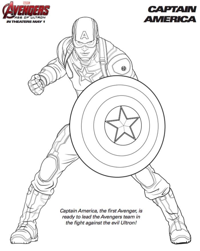Avengers Printable Coloring Pages : avengers, printable, coloring, pages, Marvel, Avengers, Coloring, Pages, Captain, America, Pages,, Coloring,
