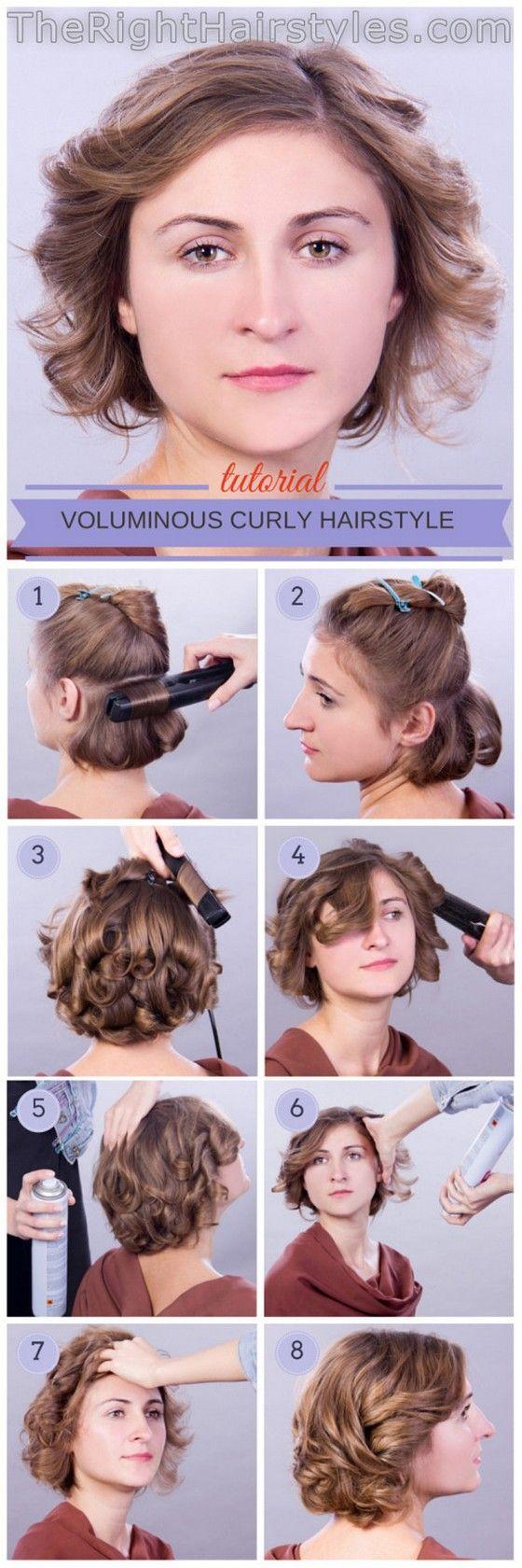 Acconciature capelli corti ricci tutorial