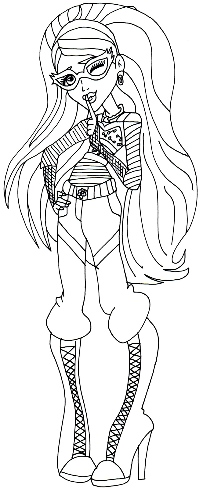 Free Printable Monster High Coloring Pages Ghoulia Yelps Monster Coloring Pages Coloring Pages Fairy Coloring Pages