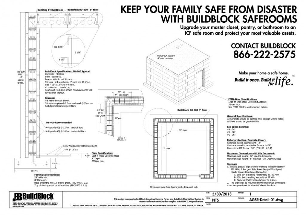 Tornado Hurricane Icf Safe Rooms Safe Room Insulated Concrete Forms Icf Walls