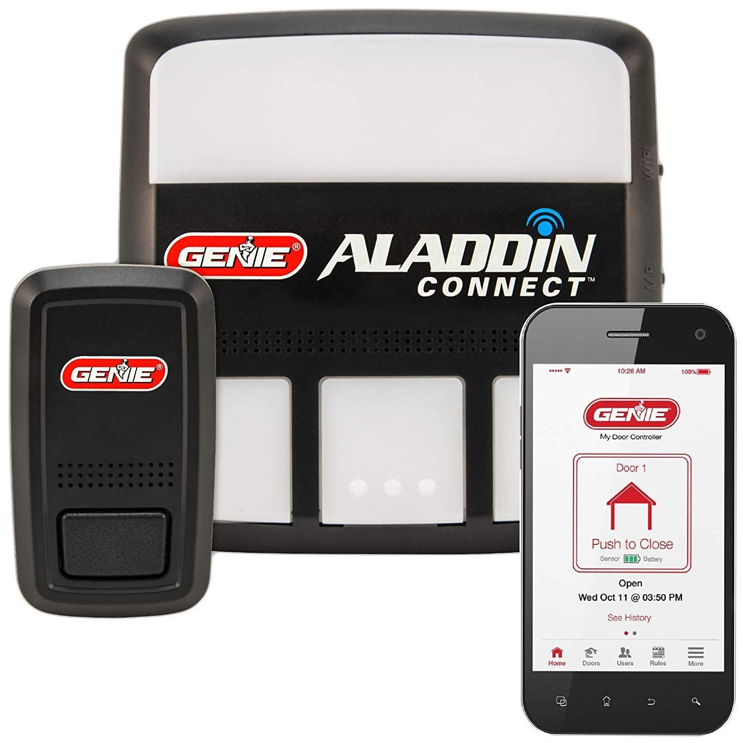 Genie Alkt1 R Aladdin Connect Smartphone Garage Door Opener C Monitor Open Close Your Garage Door From Anywhere Item Is Brand New Will Ship In Brown Box Not In Gift Box
