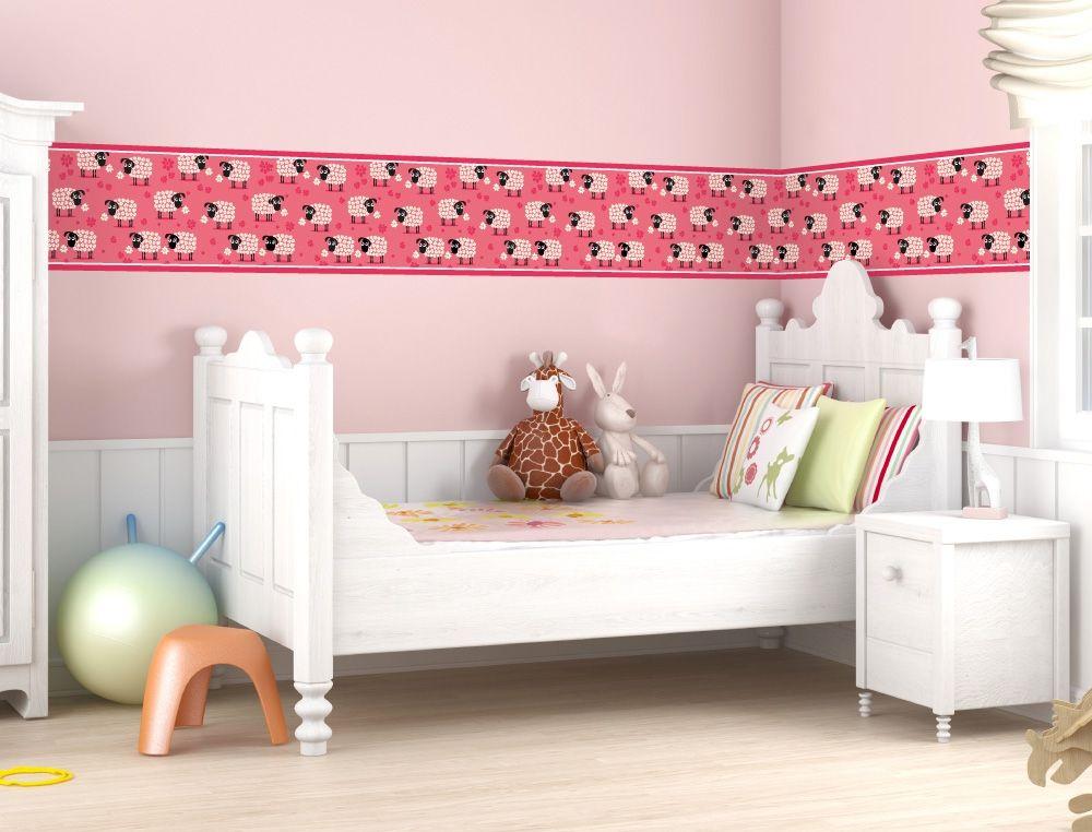 Schafe als Bordüre für Kinderzimmer - I-love-Wandtattoo.de ...