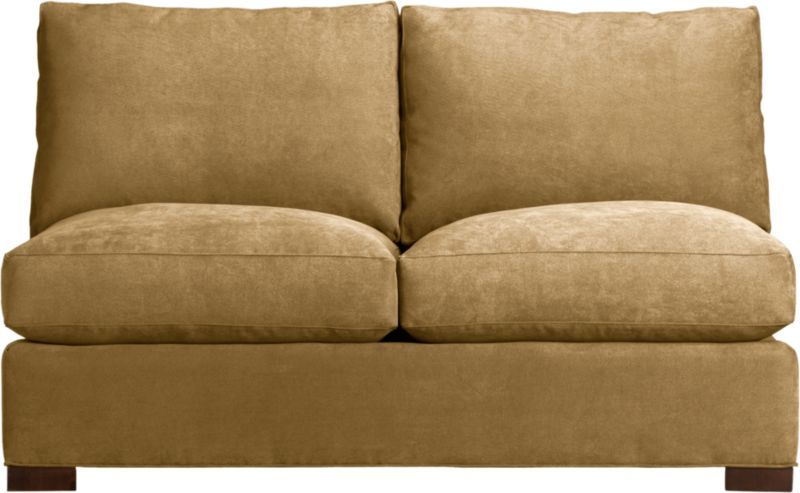 Sensational Axis Armless Sectional Loveseat In Sofas Crate And Barrel Short Links Chair Design For Home Short Linksinfo