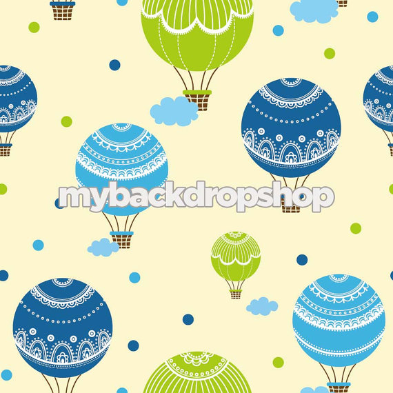 7ft x 7ft Backdrop for Newborn Pictures Hot Air by MyBackdropShop
