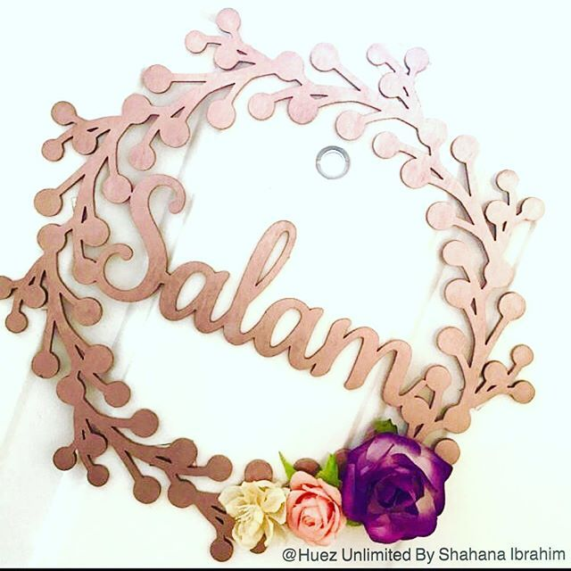 Wooden rose gold salam wreath shared by a customerlove the flowers wooden rose gold salam wreath shared by a customerlove the flowers she used m4hsunfo