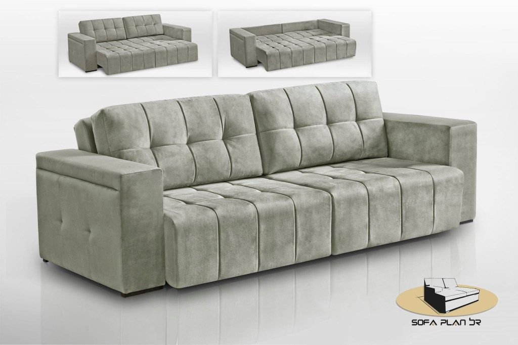 Sofá cama premium | diou | Sofá retrátil e reclinável, Sofá