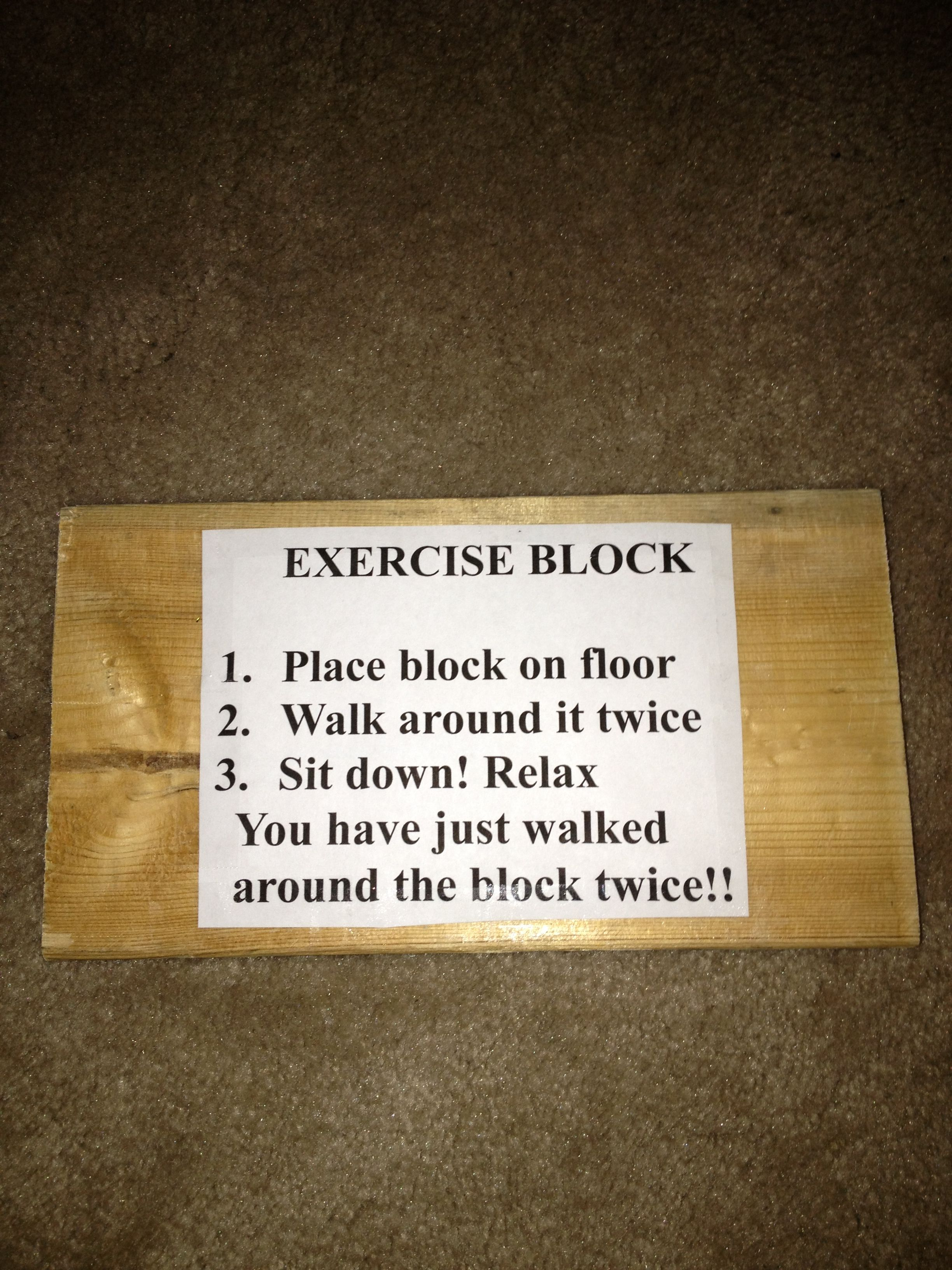 Exercise Block | Gift Ideas | Pinterest | Excercise, Party ...