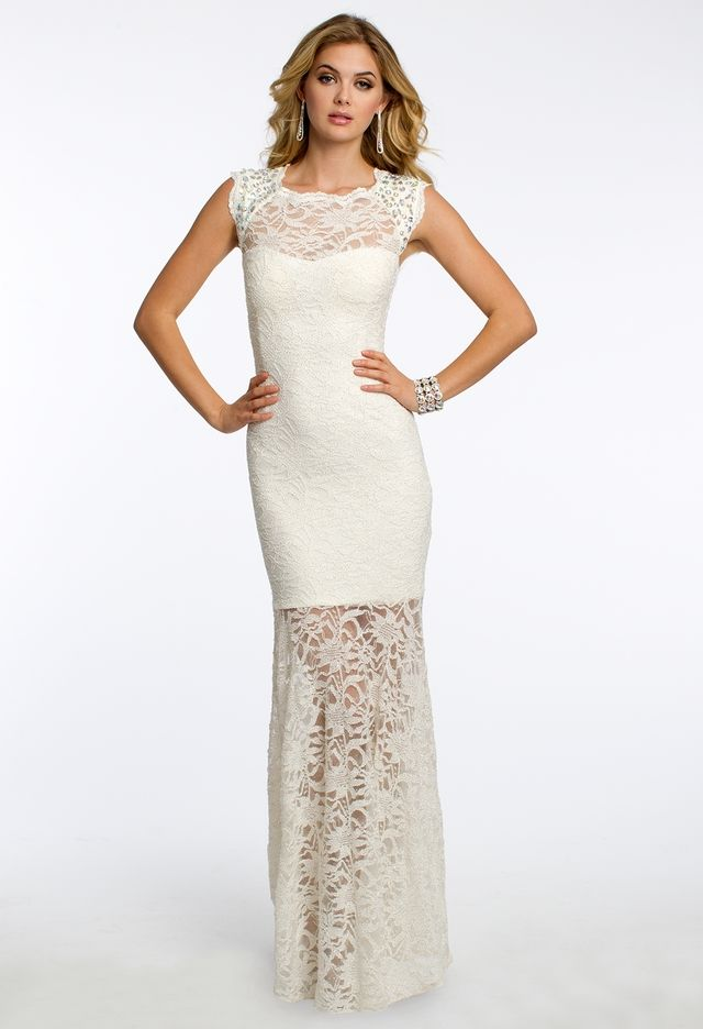 Glitter Lace Dress with Satin Tie Back from Camille La Vie and Group ...