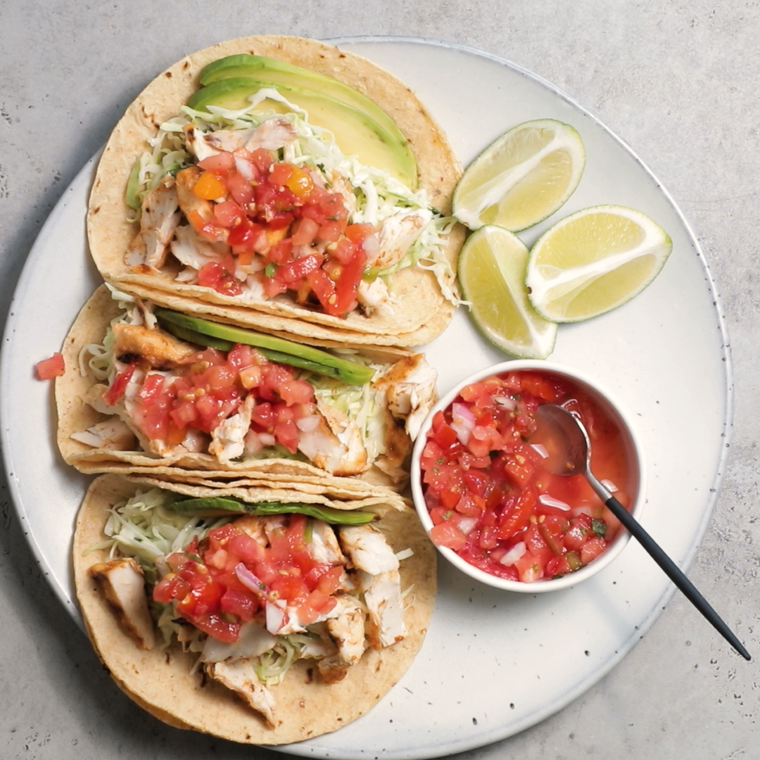 Photo of Grilled Fish Tacos with Coleslaw