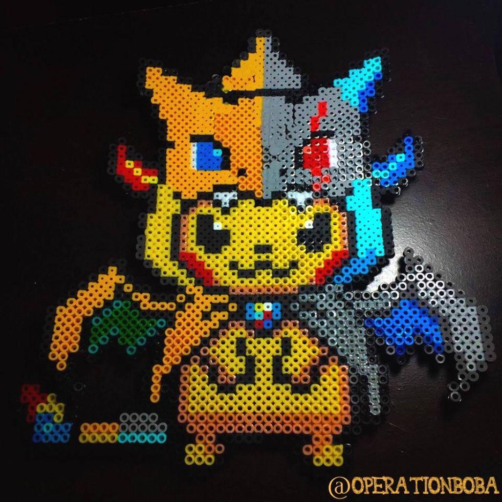 Perler Beads Pikachu Perler Beads Pikachu Pixel Art