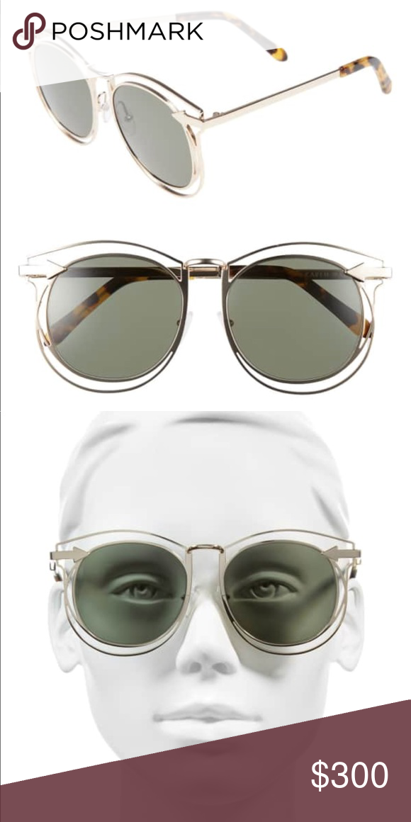 f0075f5691 Karen Walker Simone 54mm Sunglasses NWT Sleek arrow hardware adds a touch  of signature flair to
