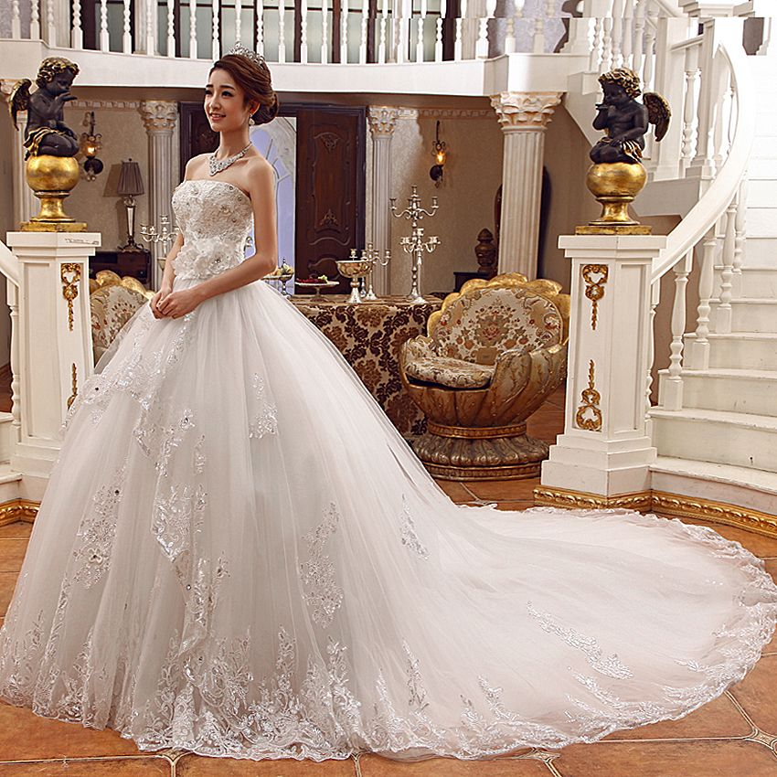 2013 nouvelle robe de mari e bustier de longue fuite. Black Bedroom Furniture Sets. Home Design Ideas