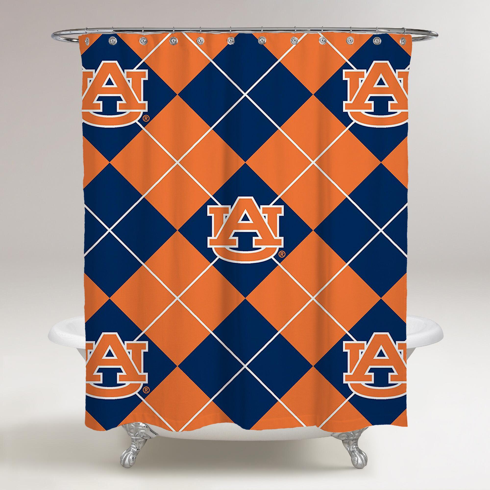 Auburn Tigers Logo Au Curtain Wallpaper Printed Shower Curtain