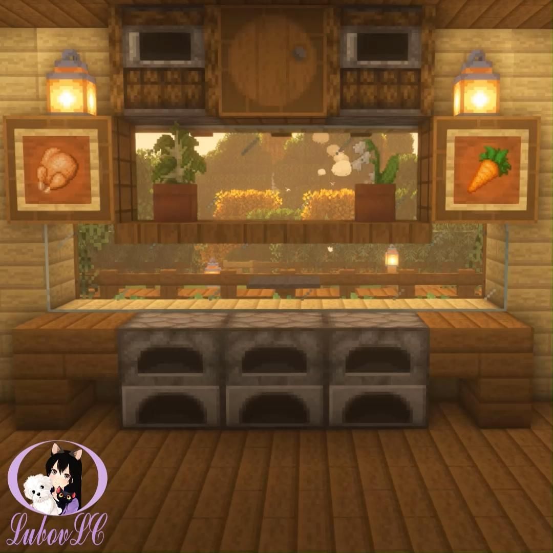 Wooden Kitchen design in minecraft ^.^ Video Tutor