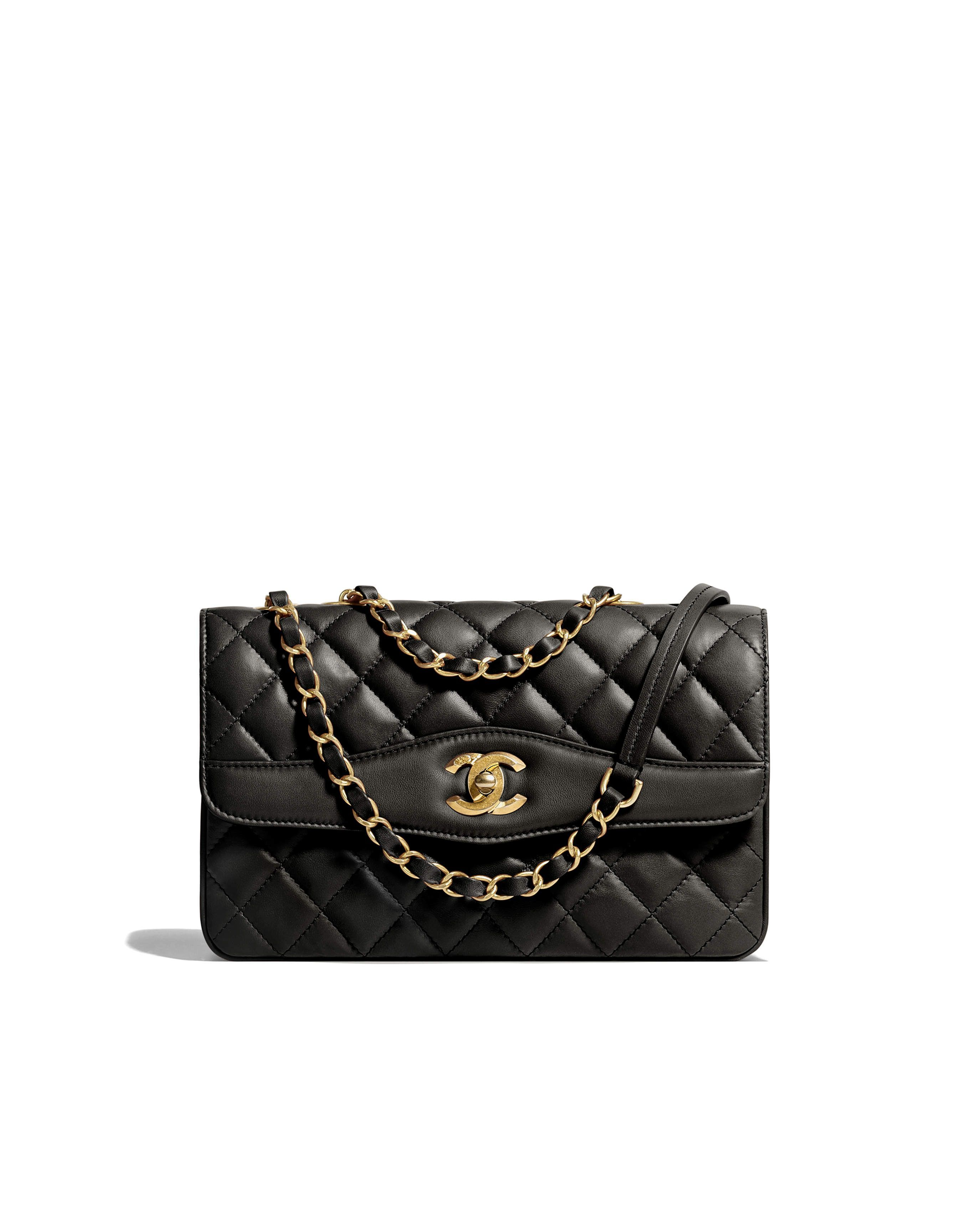 a6e08593d8c835 Spring-Summer 2018 Pre-Collection - lambskin, studs, gold-tone & silver-tone  metal-black