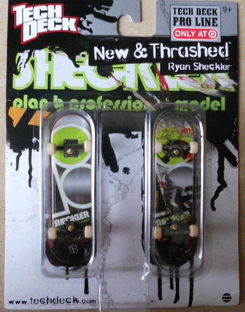 Vtg tech deck Pro Line Ryan Sheckler New & Thrashed 96mm