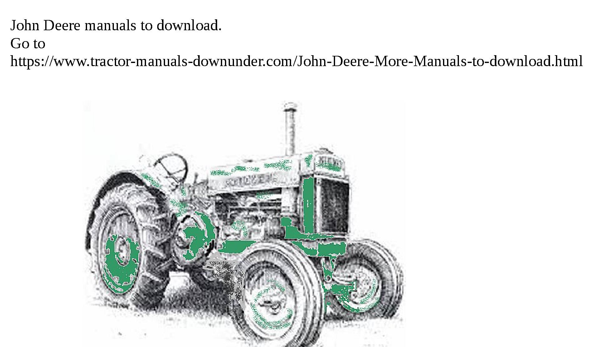 Pin on tractor manuals you can download
