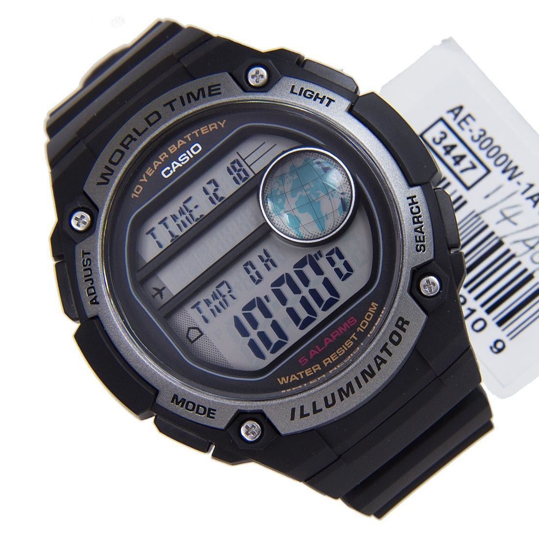 Casio World Time Gents Watch AE3000W1AVDF AE3000W1A