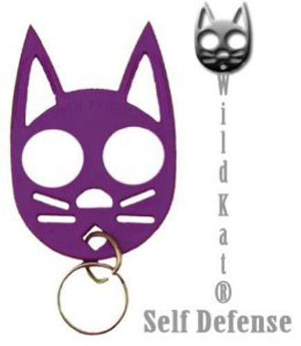 Wild Cat Defense Keychain Purple Self Defense Weapons Defense