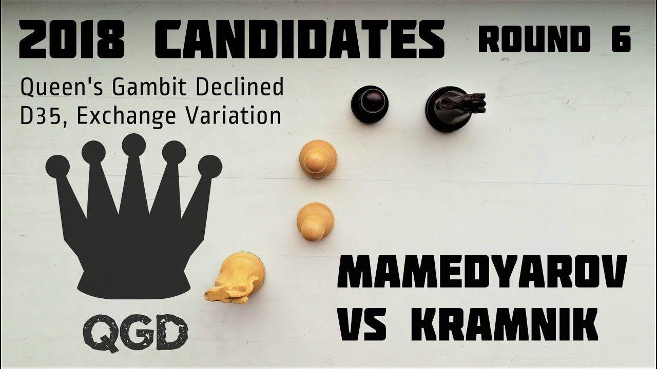 Mamedyarov beats Kramnik with engine strength chess ⎸2018