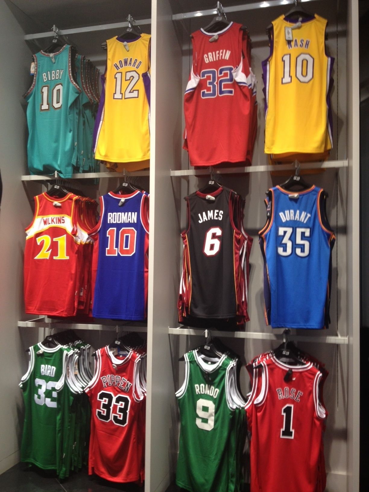 NBA Jersey wall!! wholesale basketball and soccer