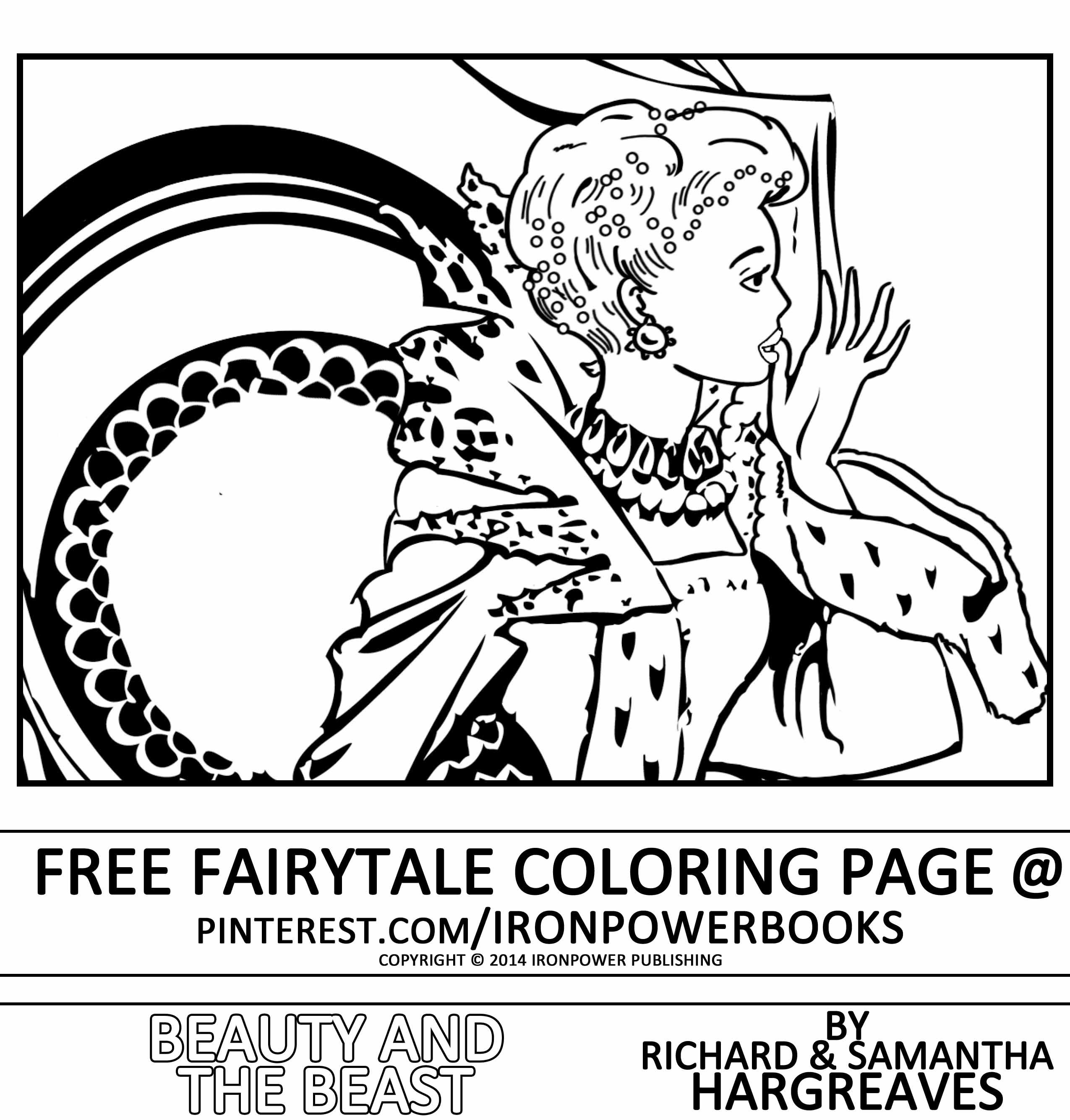 Beauty and the Beast Classic Fairytale Coloring Pages for kids ...
