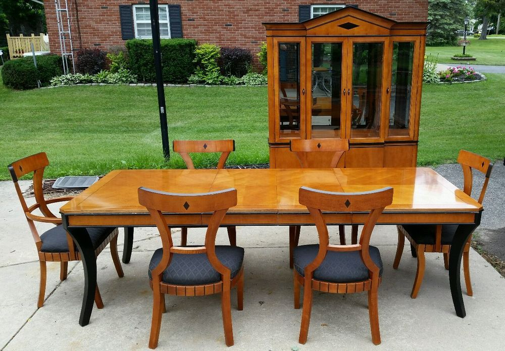 National Mtairy Furniture Dinning Room Set  Table China Hutch Alluring Dining Room Set With Hutch Decorating Design