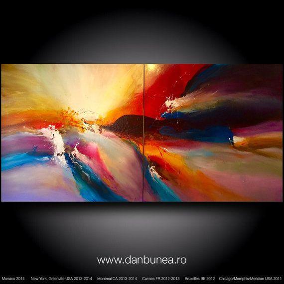 Gran pintura abstracta por Dan Bunea: Todo por amor por danbunea