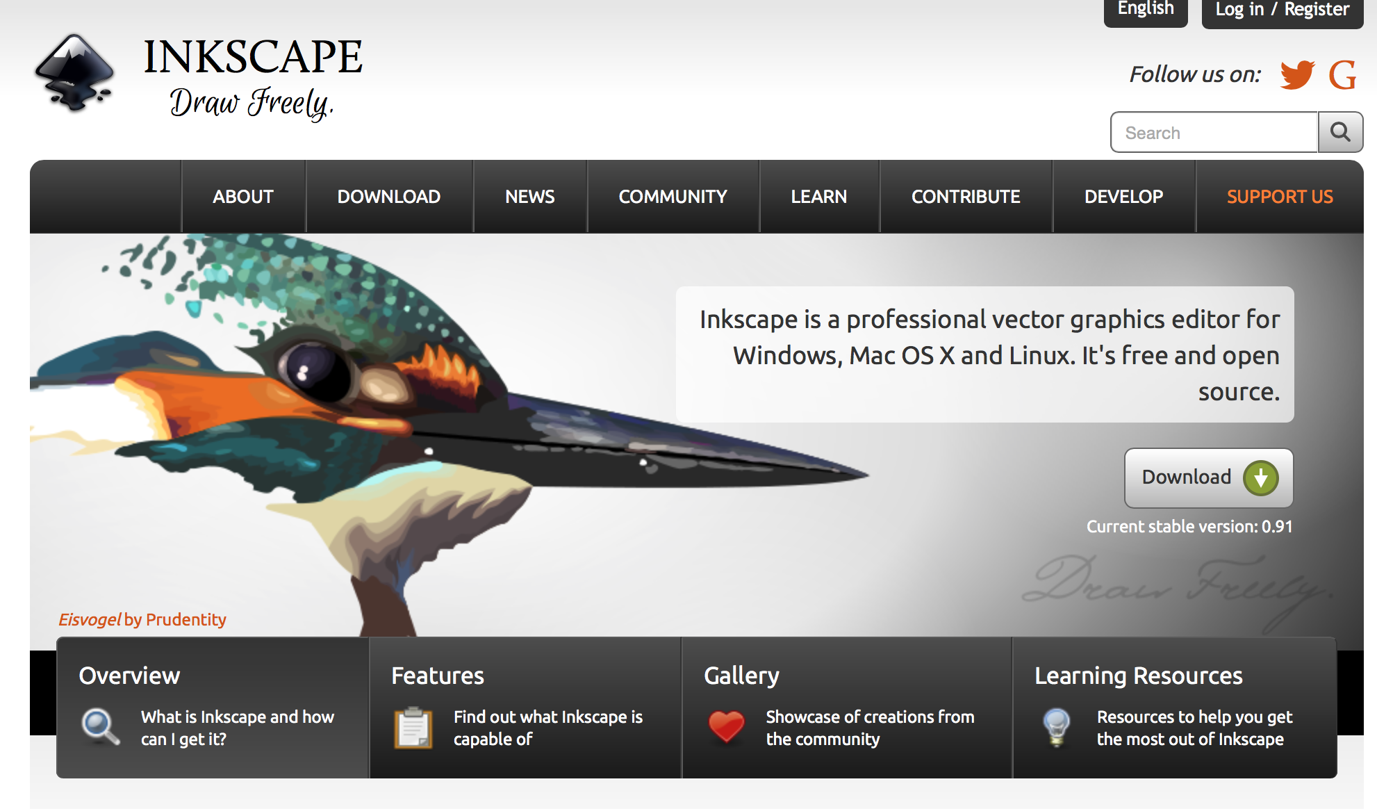 Inkscape is a professional vector graphics editor for
