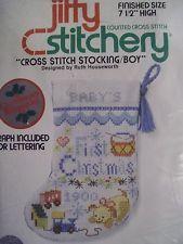Baby Boys First Christmas Stocking Cross Stitch Kit Google Search