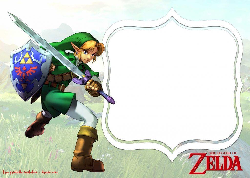 FREE Printable Legend Of Zelda Invitations Templates