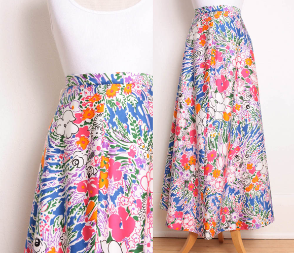 Floral Maxi Skirt by Pineapple Mint    Only $24.00!
