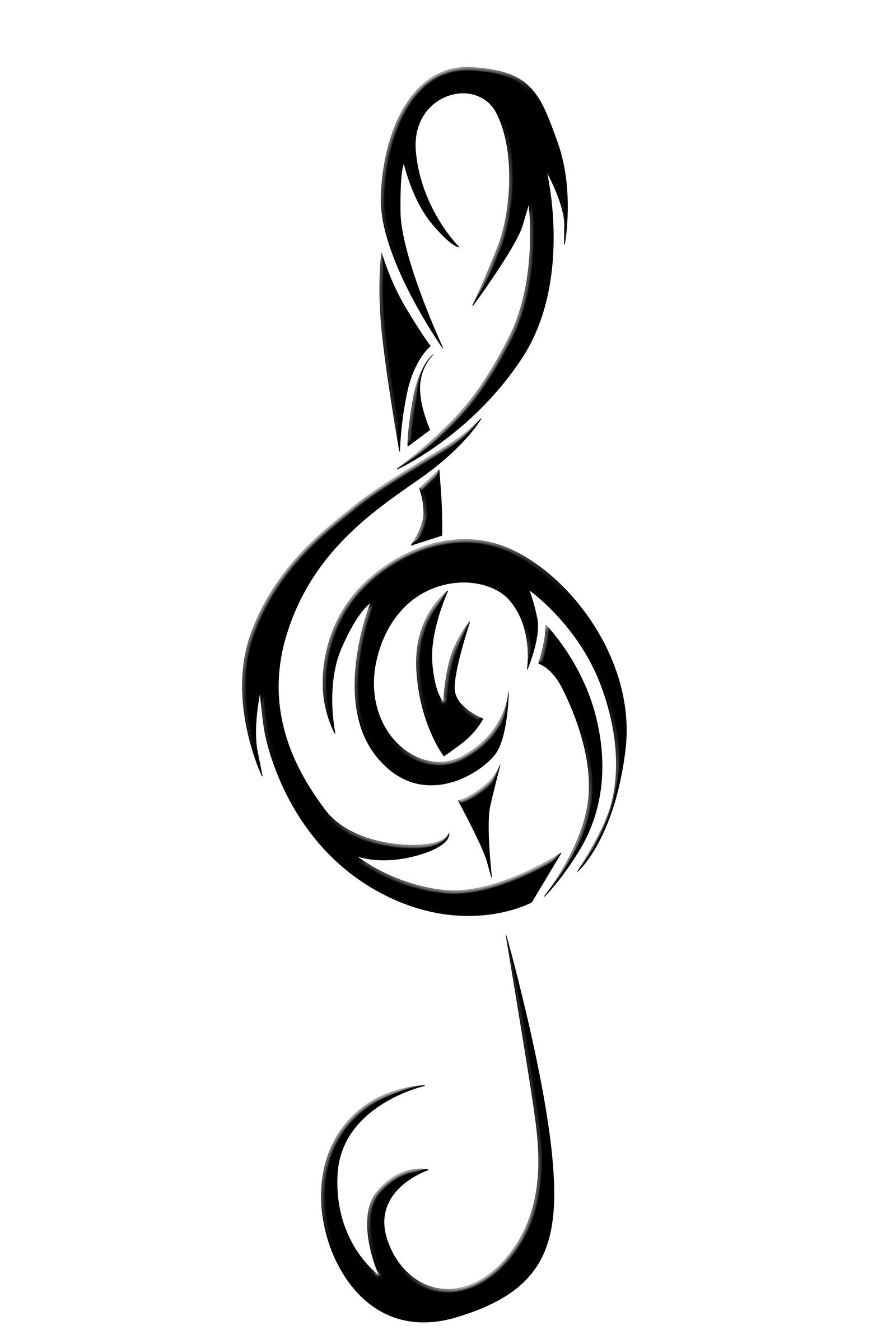 treble clef vector art clipart best tattoo art pinterest rh pinterest com treble clef clipart treble clef clipart no background