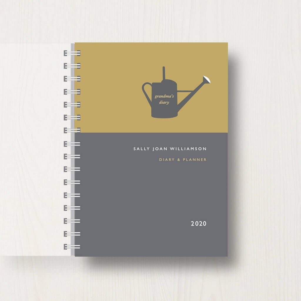 Personalised 2020 Diary For Garden Lovers In 2020 Handmade Gifts