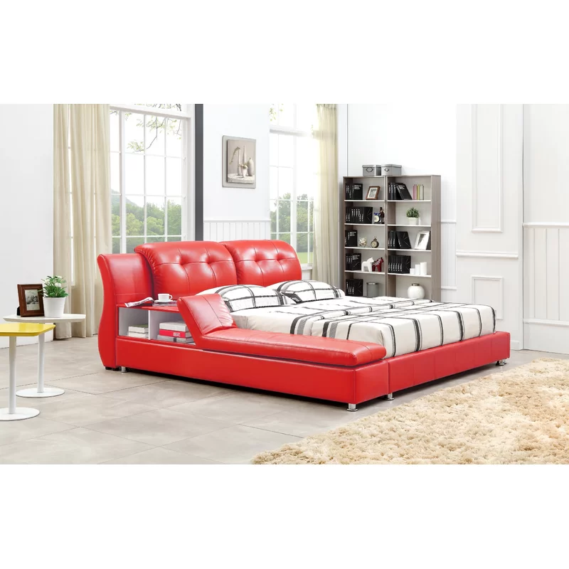 Greatime Upholstered Platform Bed & Reviews Wayfair