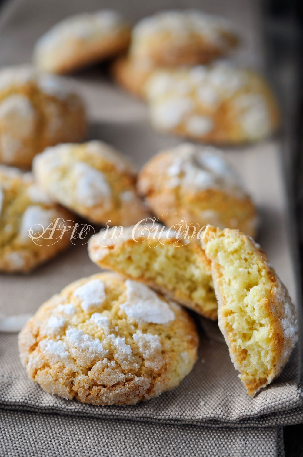 biscuits tendres avec la noix de coco et rapide de citron et de l'art de…
