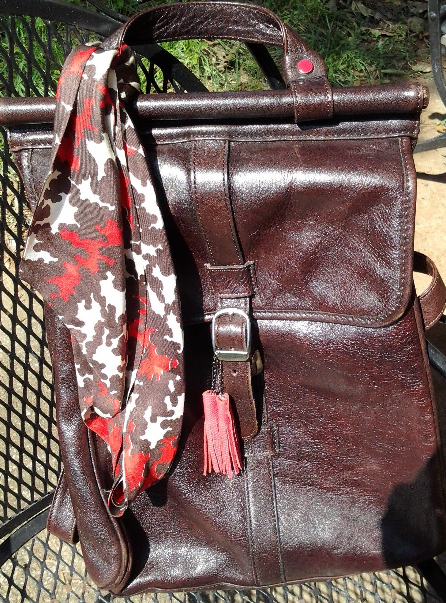 My vintage Wilson leather bag with tassels Wilsons