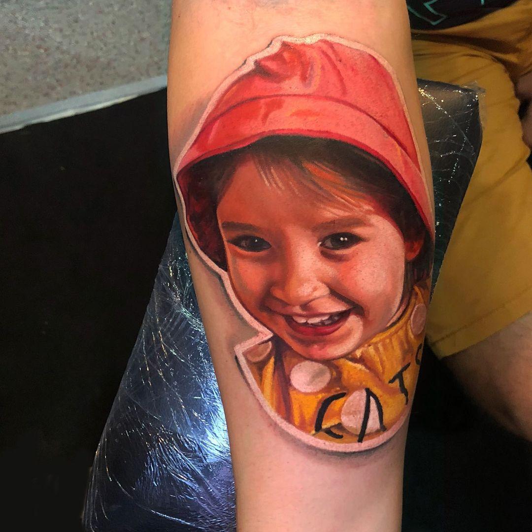 Child portrait tattoo kids portraits