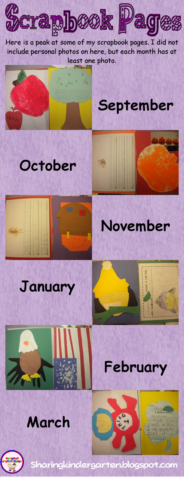Scrapbook ideas kindergarten - Mrs Miner S Kindergarten Monkey Business Scrapbooking In Kindergarten A Yearlong Project