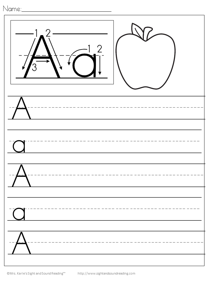 FREE Handwriting sheets I printed them placed them in sheet – Free Handwriting Worksheets Kindergarten
