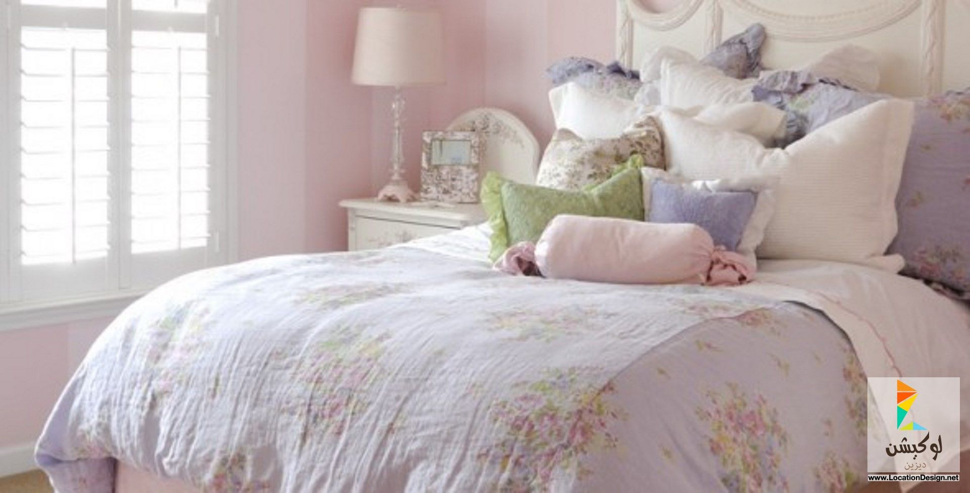أجمل ديكورات غرف بنات مودرن لوكيشن ديزاين تصميمات ديكورات أفكار جديدة مصر Shabby Chic Bedrooms Bedroom Vintage Chic Bedroom