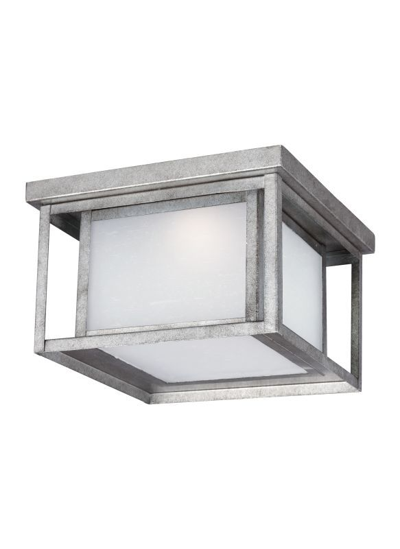 Sea Gull Lighting 7903991S Hunnington LED Title 24 Outdoor Flush Mount  Ceiling F Weathered Pewter Outdoor