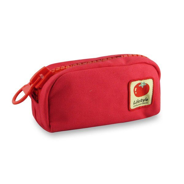 Languo Pu Linen Fancy Multifunction Stationary School Supply Organizer Pencil Case Bag (Red)
