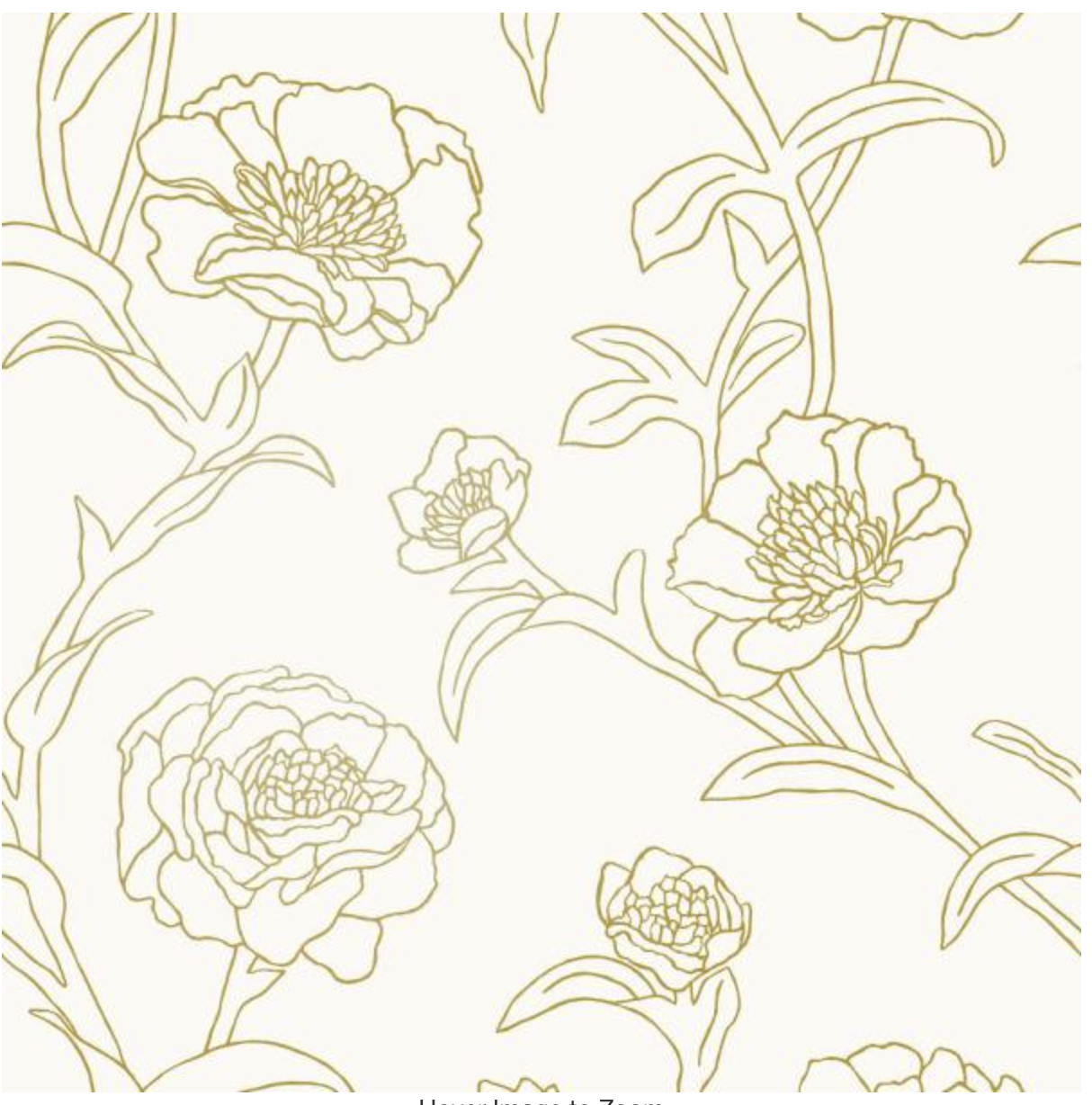 Tempaper Peonies Gold Leaf Vinyl Peelable Roll Covers 28 Sq Ft Pe10042 The Home Depot Peony Wallpaper Peelable Wallpaper Removable Wallpaper