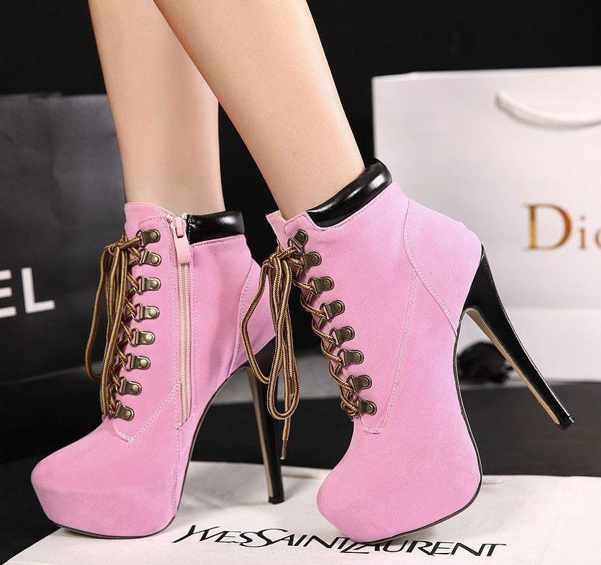 Vintage Waterproof Stiletto High Heels Shoes | Zapatos, Tacones y Botas