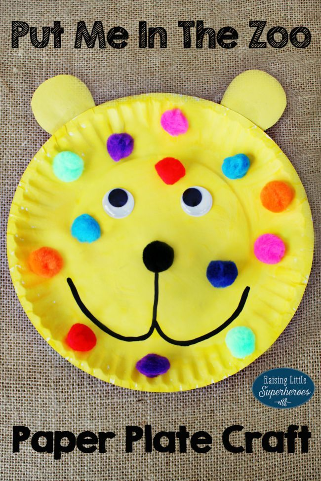 paper plate craft ideas for preschool how to make a put me in the zoo paper plate craft 7865