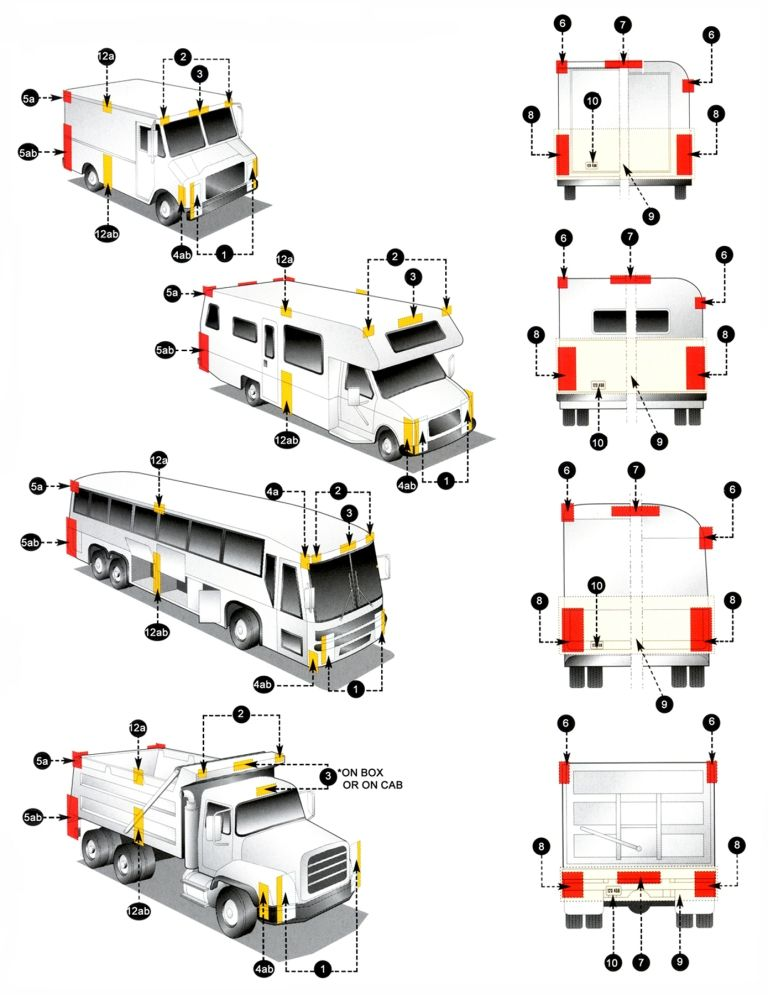 DOT lighting - truck The Department of Transportation has veyy strict guidelines on how commercial trucks  sc 1 st  Pinterest & DOT lighting - truck The Department of Transportation has veyy ...